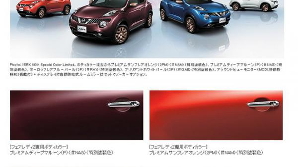 Nissan Juke 80th Special Color Limited Edition pro Japonce