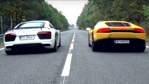 VIDEO: Závod ve sprintu mezi Audi R8 V10 Plus a Lamborghini Huracán LP 610-4