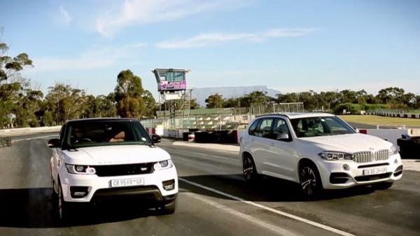 Závod velikánů - BMW X5 M50d vs.Range Rover Sport +VIDEO