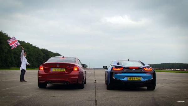 Šprint BMW M4 vs. BMW i8