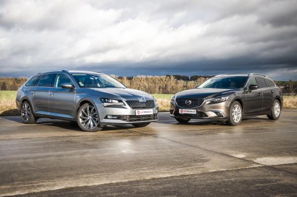 Mazda6 Wagon AWD vs. Škoda Superb Combi 4x4: Otázka priorit